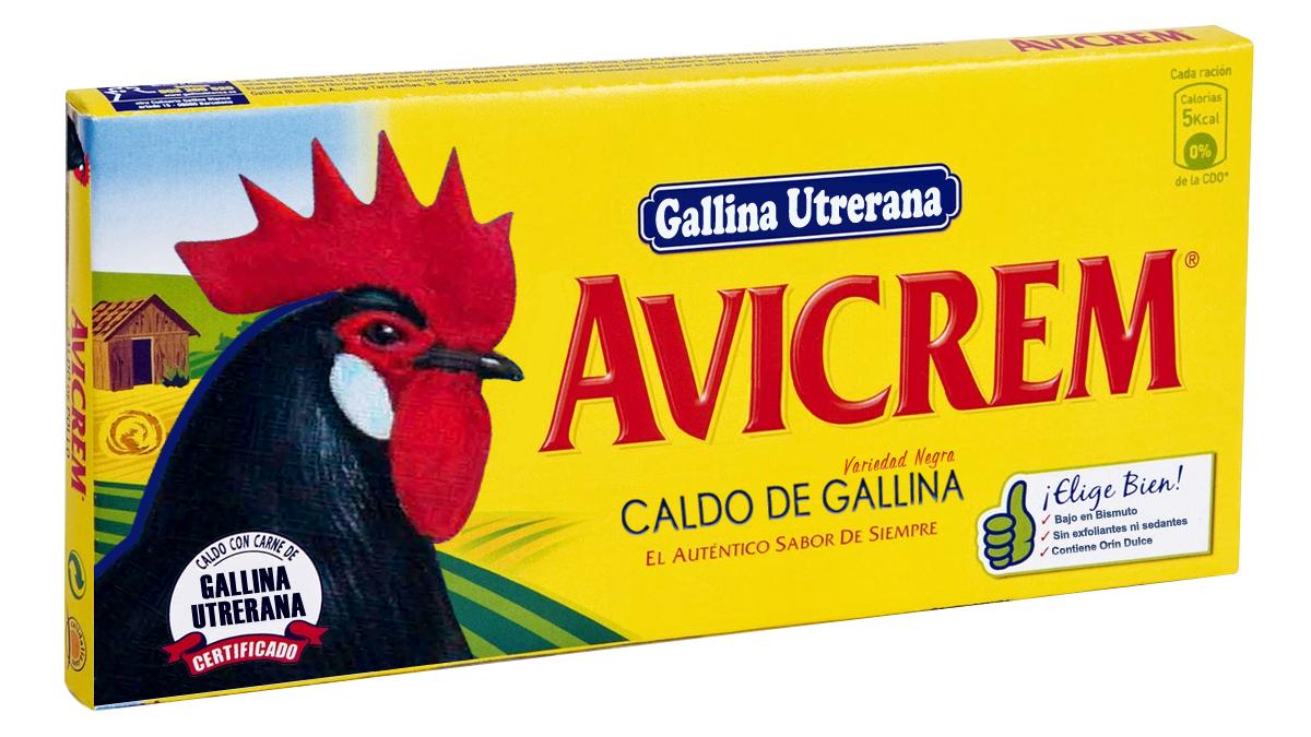 Formato para la comercialización del caldo de gallina utrerana, recuerde: bajo en bismuto, sin exfoliantes ni sedantes, puede contener trazas de orín dulce.