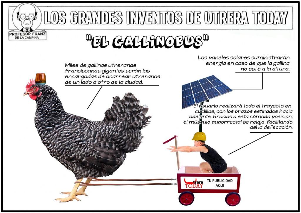 """""""El Gallinobus"""", el nuevo invento del Profesor Franz para solucionar el problema del transporte urbano en Utrera"""
