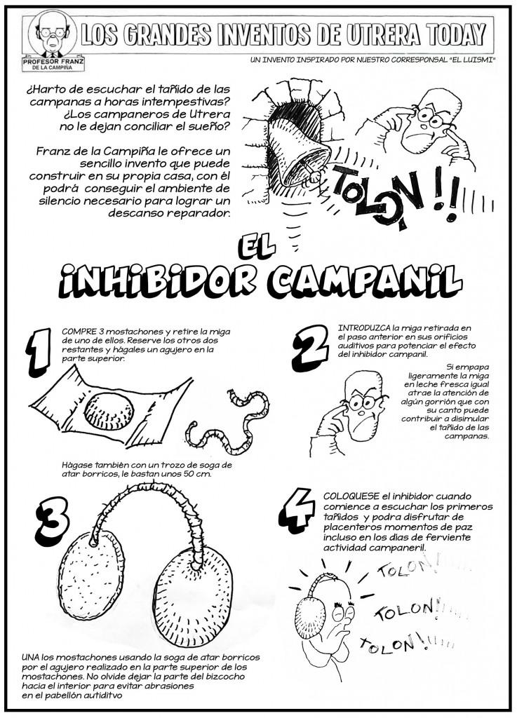 """Detalle de los elementos necesarios para construir el """"Inhibidor Campanil""""."""